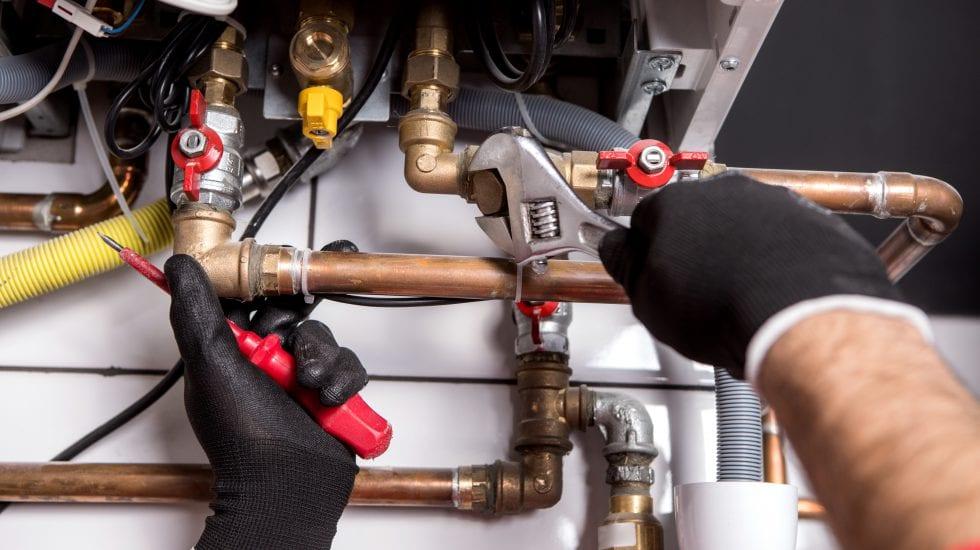 frozen boiler pipes