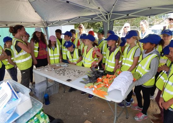 Pupils dig for Roman treasures