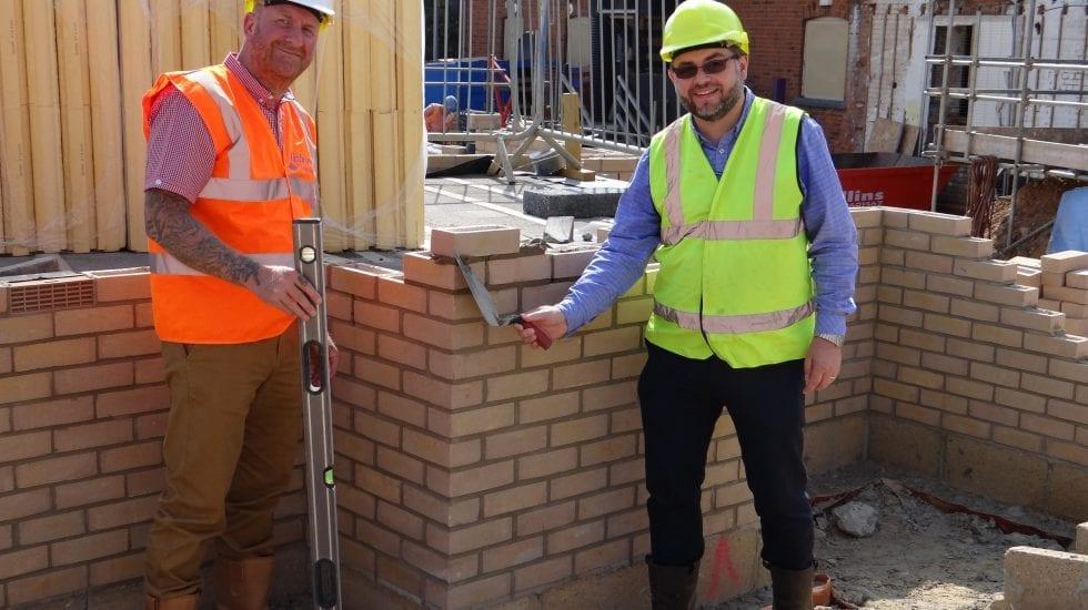 Tayfen Road Bricklaying Starts On Social Housing Development