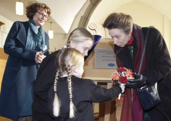 Princess Anne visits Priors Avenue Development