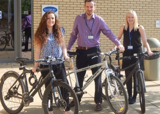 Havebury employees gear up to success in cycling challenge