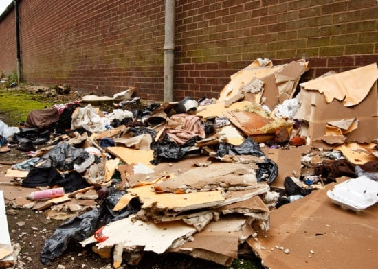 Over £15,000 in the bin because of fly tipping