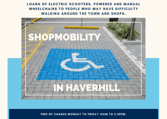 Increase your shopmobility around Haverhill
