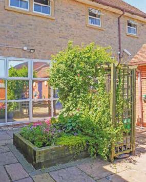 Tayfen House outside garden area