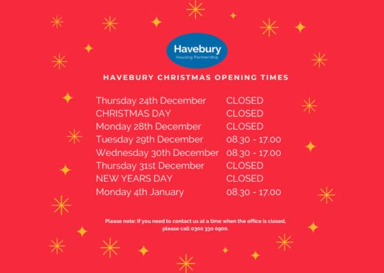 Christmas Opening Times 2020